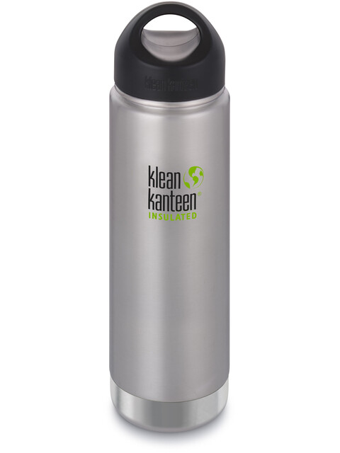 Klean Kanteen Wide Vacuum Insulated Bottle Stainless Loop Cap 592ml Brushed Stainless